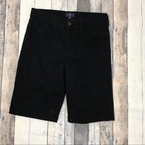 NYDJ Not Your Daughters Jeans Blk Bermuda Shorts 2